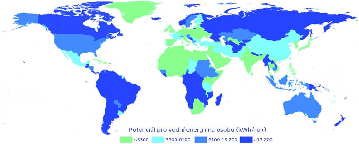 Potenciál pro využití vodní energie