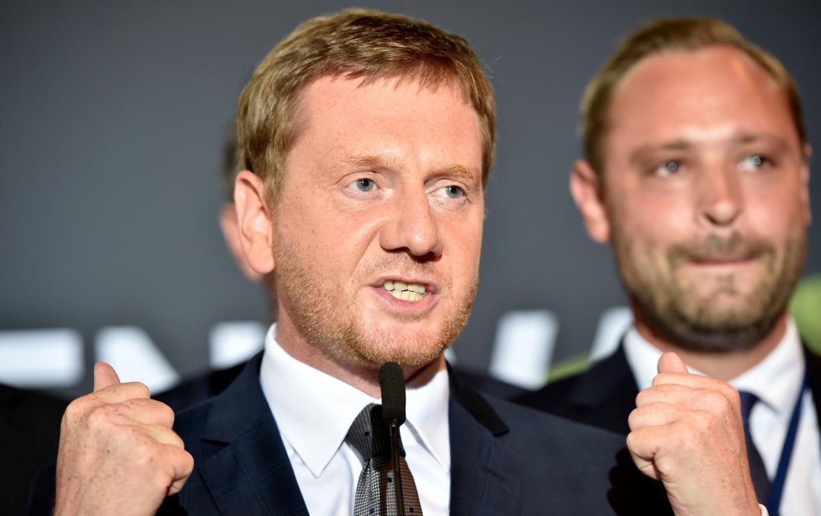 Michael Kretschmer ve volební centrále CDU