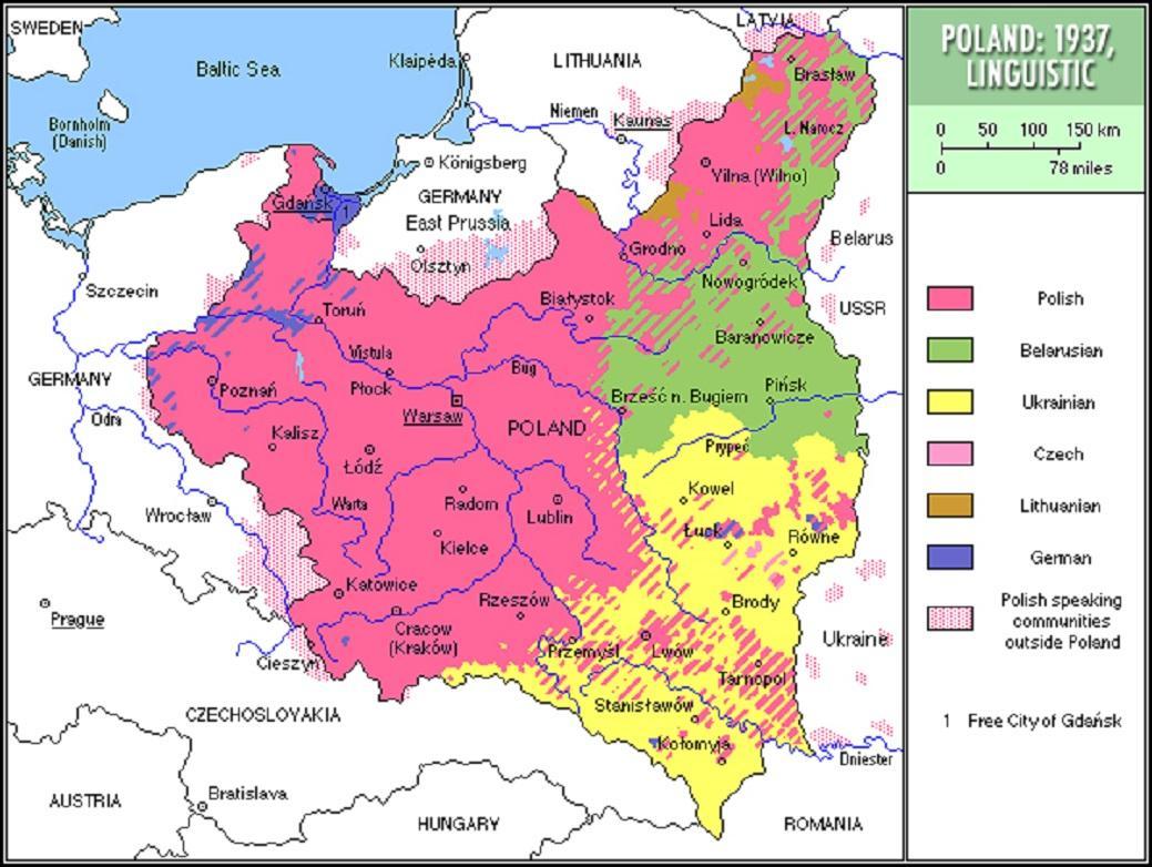 Jazykové rozdělení předválečného Polska