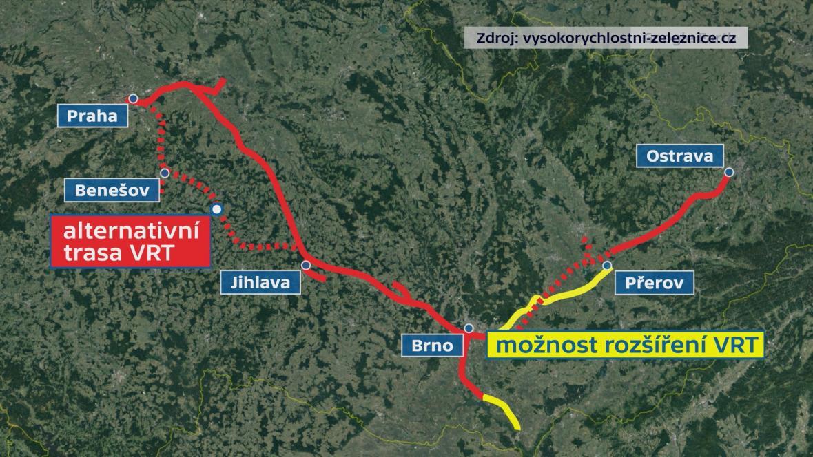 Trasa vysokorychlostní trati