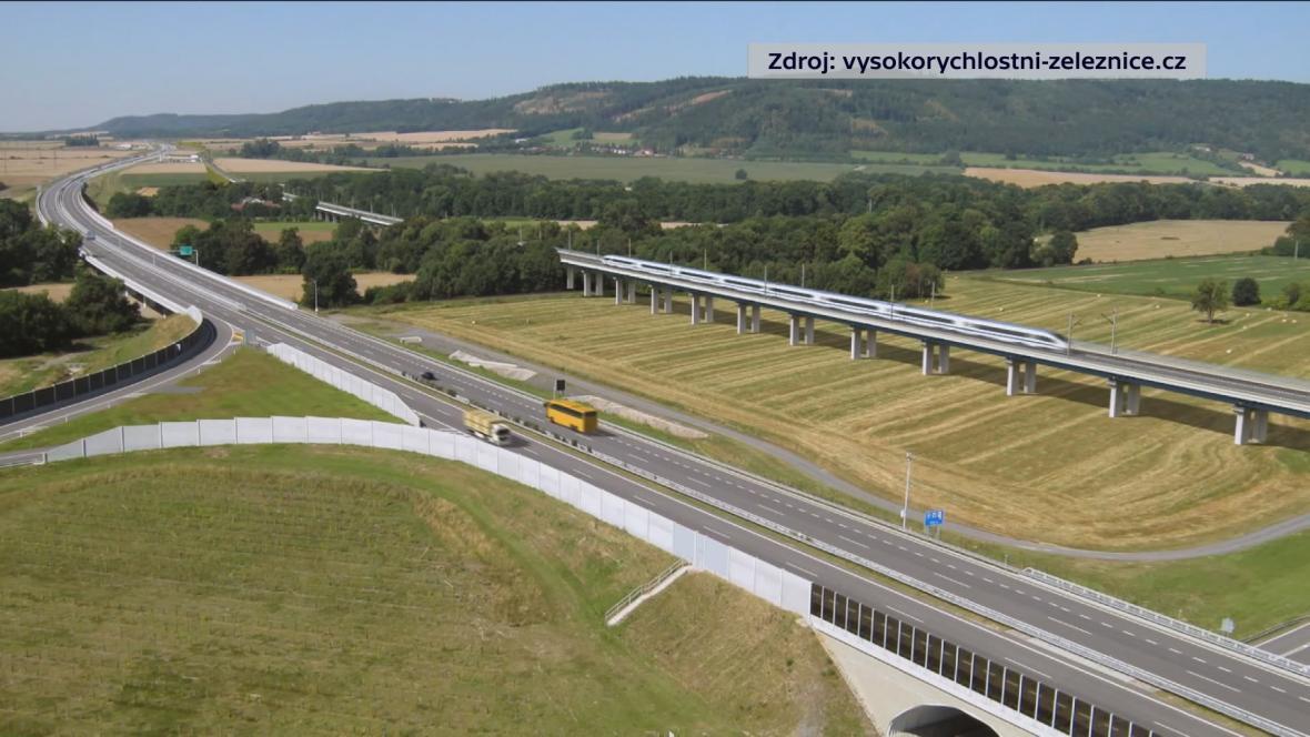 Vizualizace vysokorychlostní trati