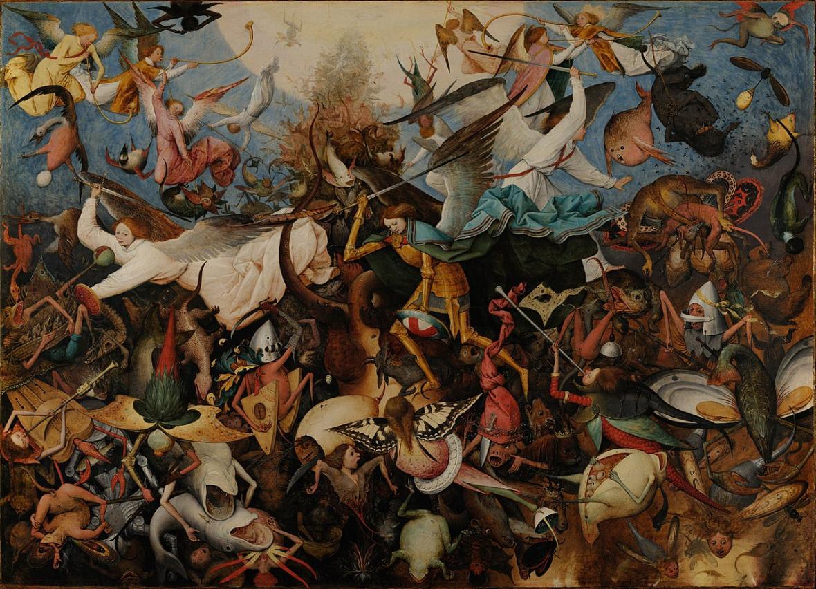 Pieter Brueghel starší / Pád andělů (asi 1562)