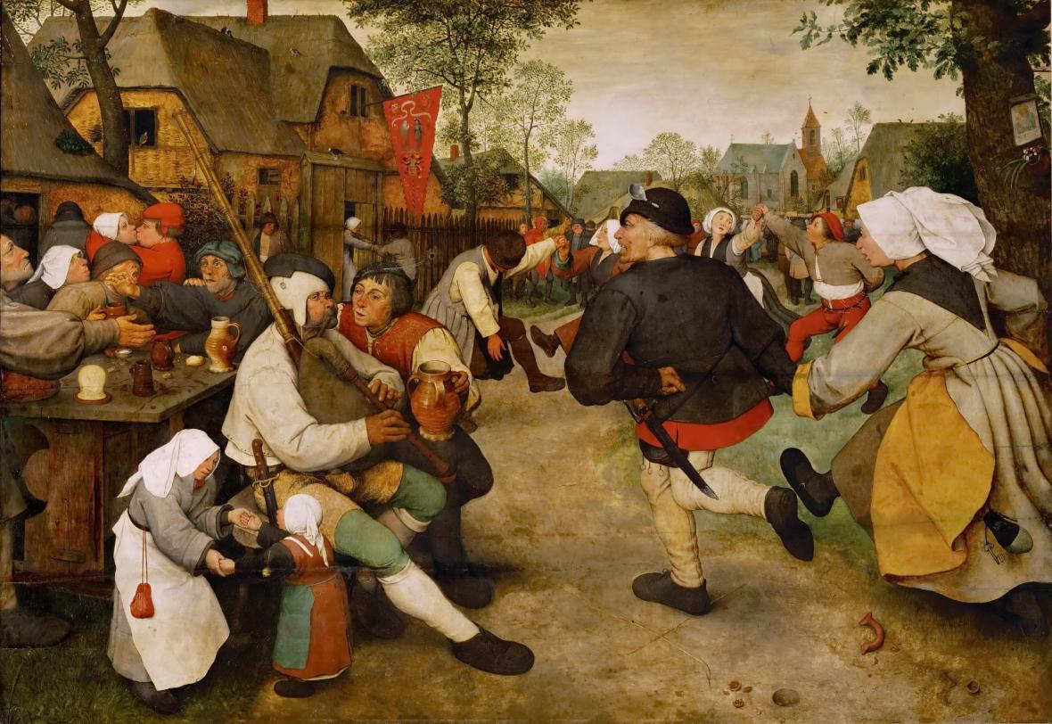 Pieter Brueghel starší / Selský tanec (1568)