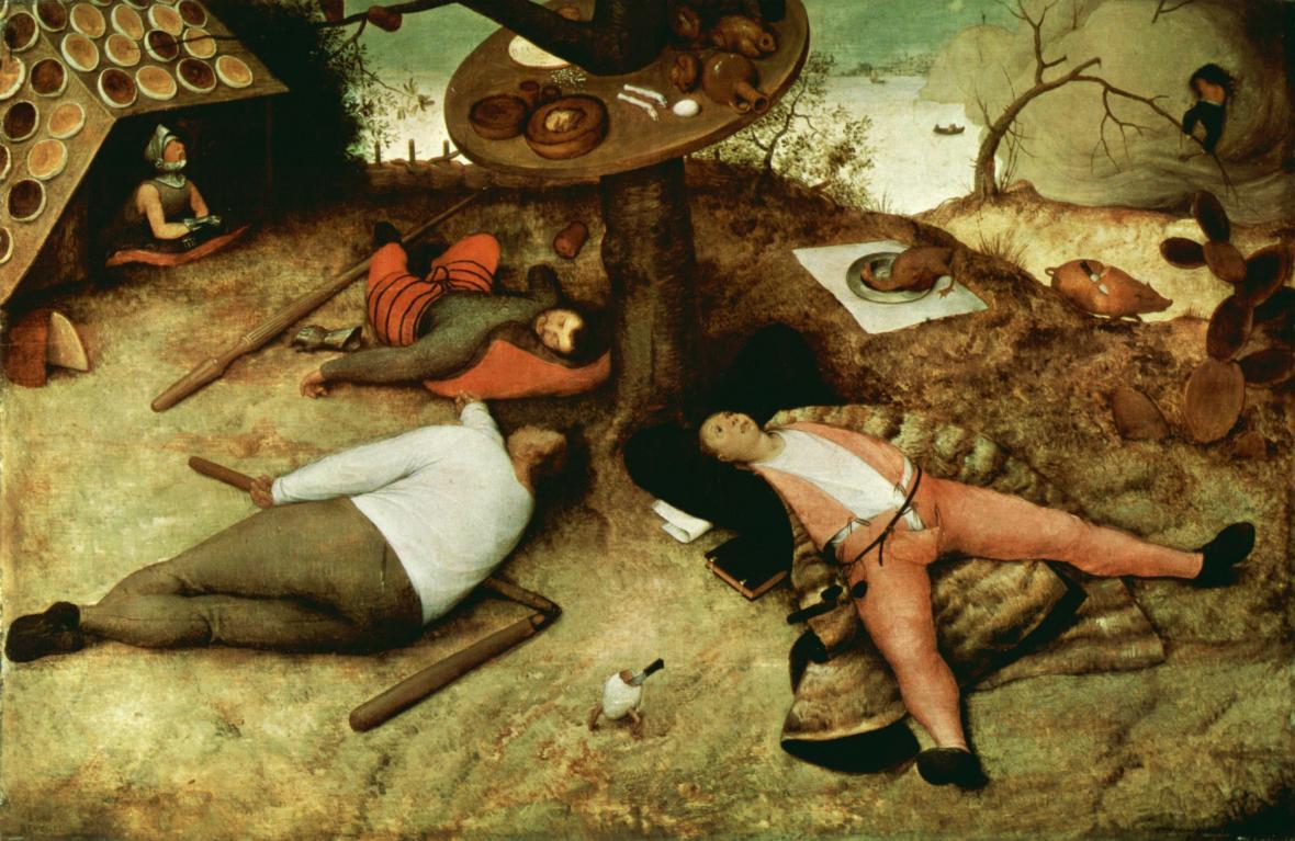 Pieter Brueghel starší / V zemi peciválů (1567)