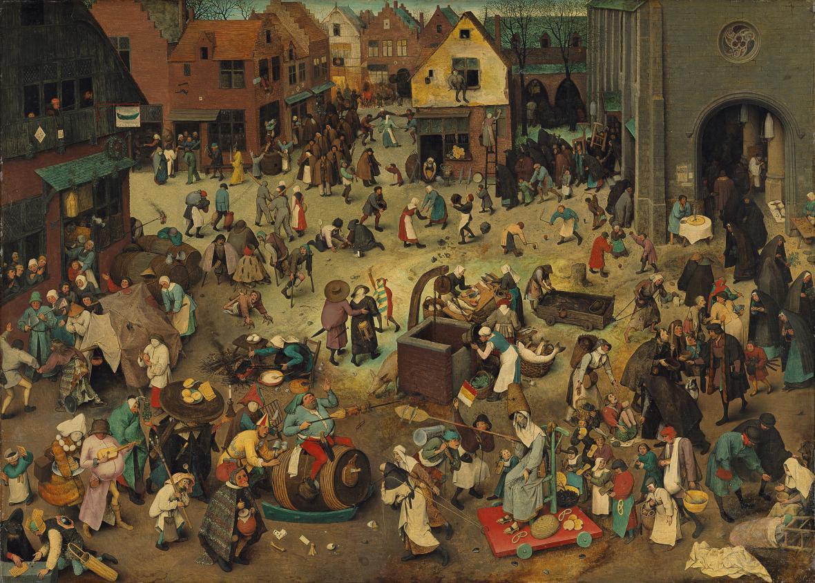 Pieter Brueghel starší / Zápas masopustu s půstem (1559)
