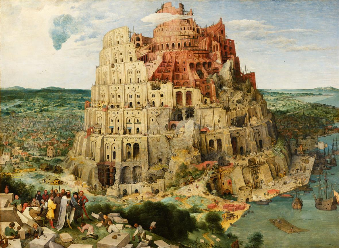 Pieter Brueghel starší / Stavba babylónské věže, 1563