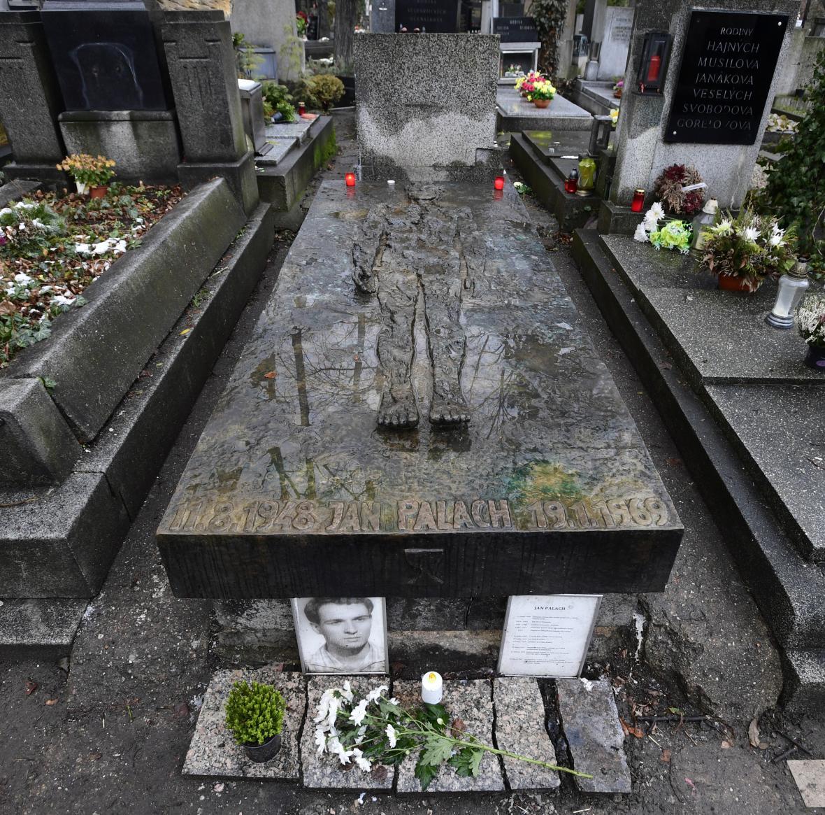 Hrob Jana Palacha na Olšanech