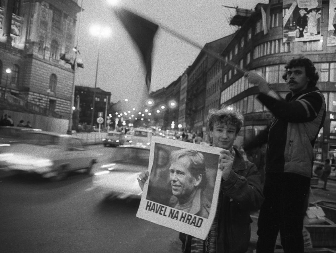Volba Václava Havla na fotografii Karla Cudlína