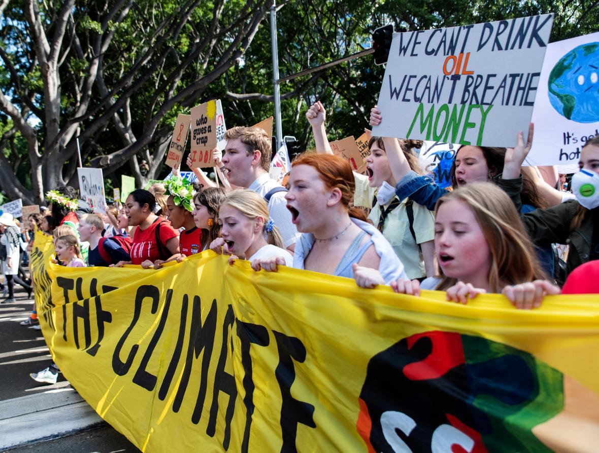 Pochod za klima v Sydney