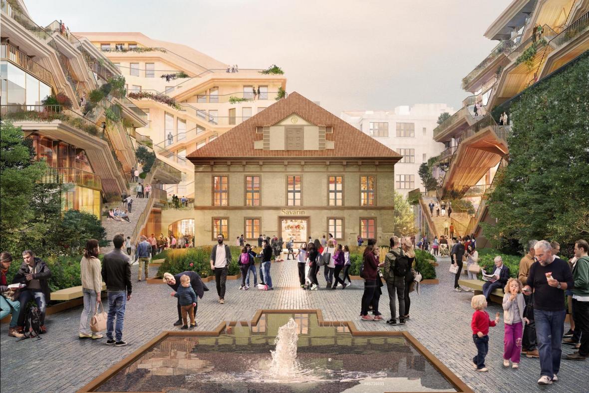 Vizualizace budoucí podoby projektu Savarin