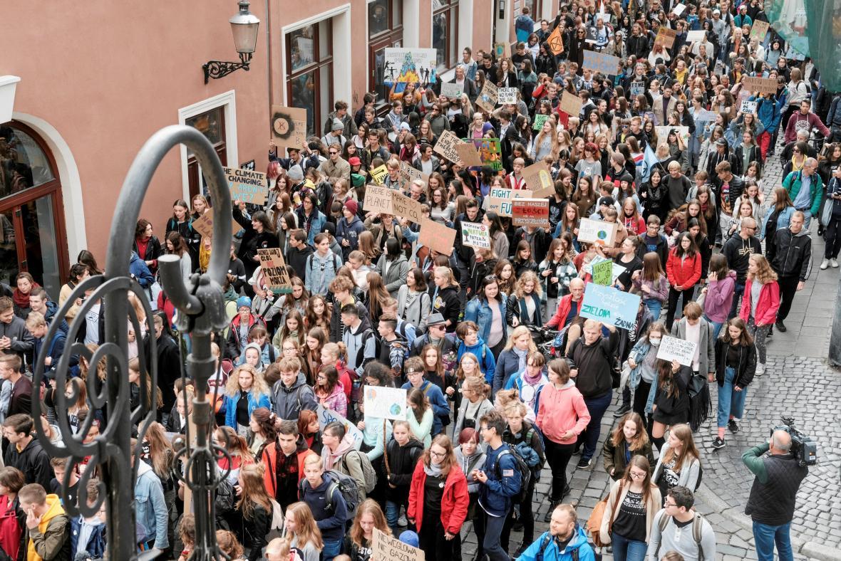 Protest v polské Poznani