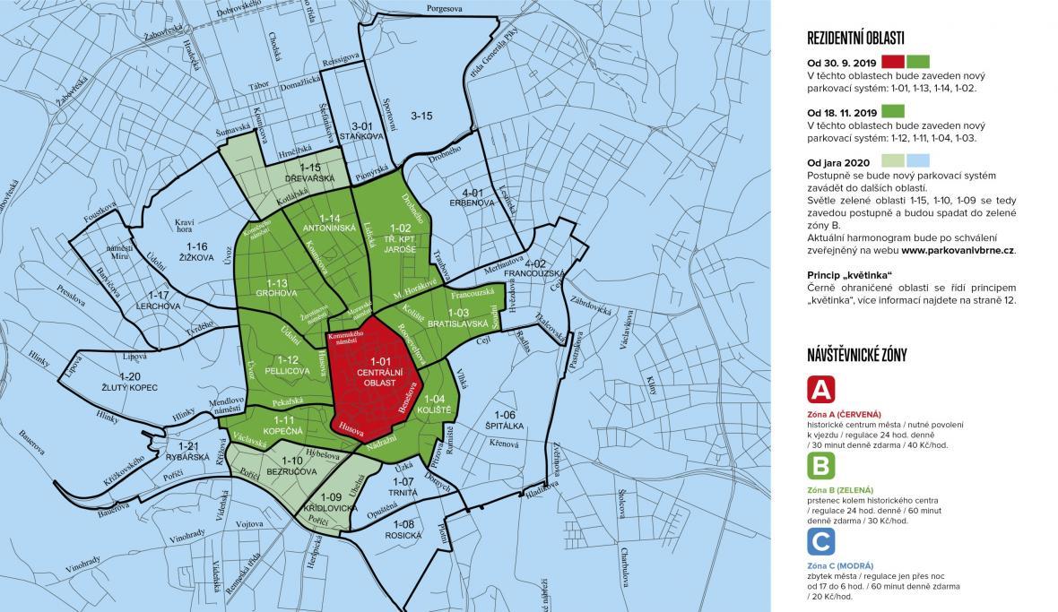 Mapa rezidentního parkování