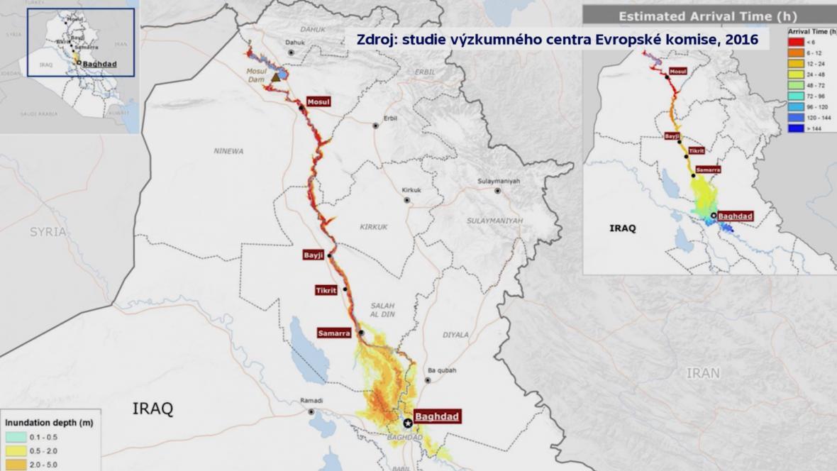 Studie o přehradě v Mosulu
