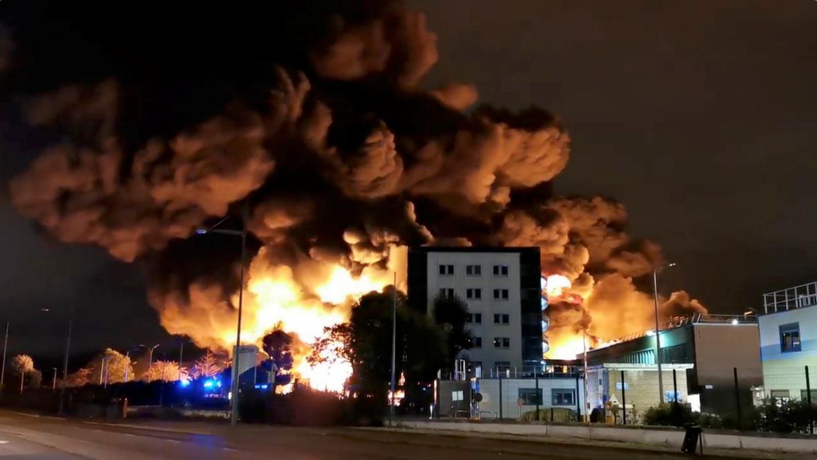 Výbuch v továrně v Rouen