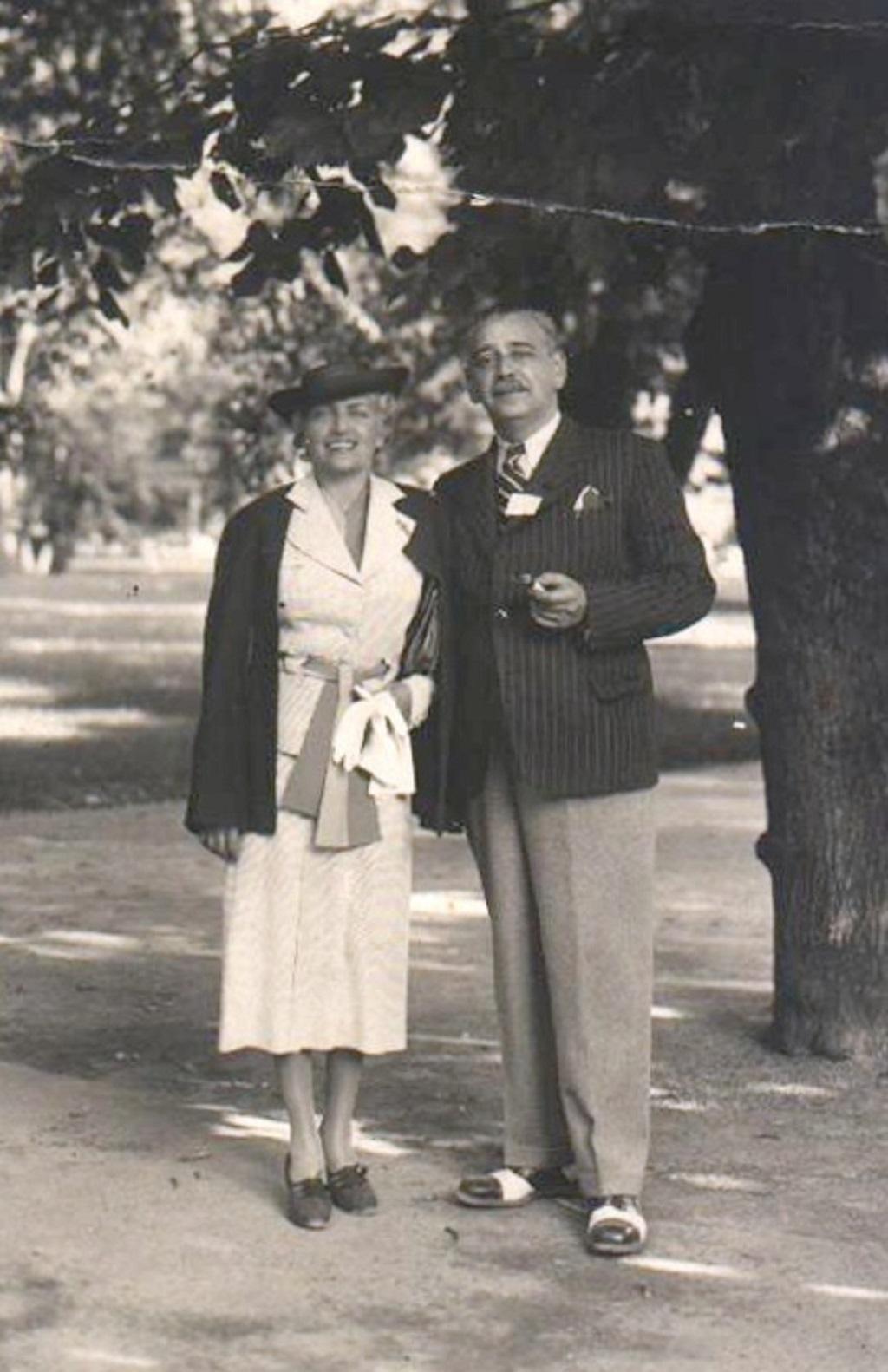 Rudolf Jelínek s manželkou Irenou okolo roku 1935