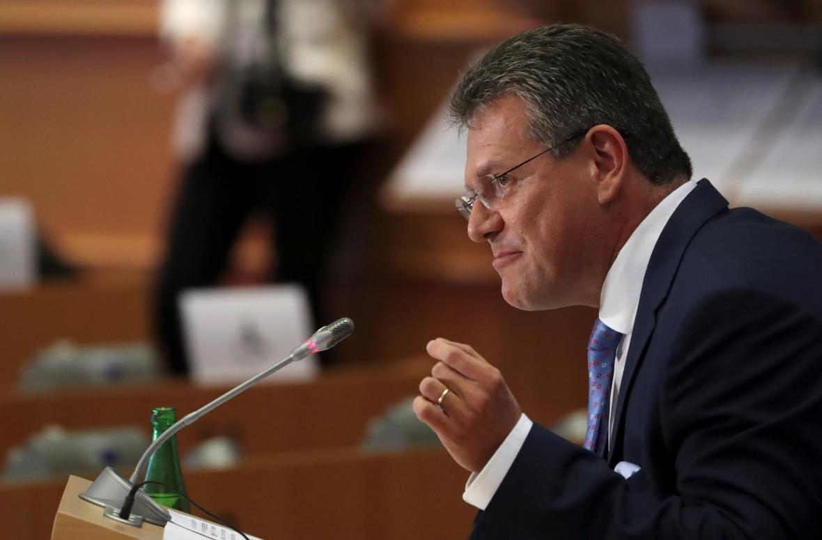 Maroš Šefčovič během slyšení ve výborech Evropského parlamentu