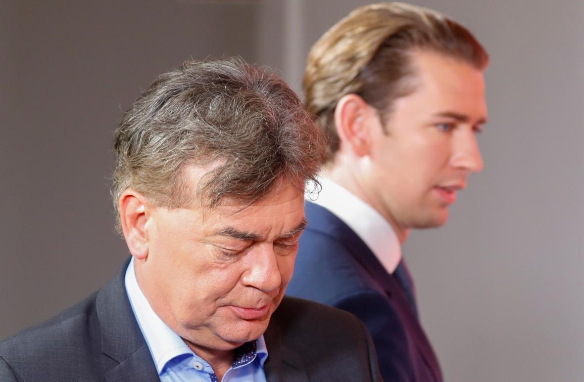 Werner Kogler a Sebastian Kurz
