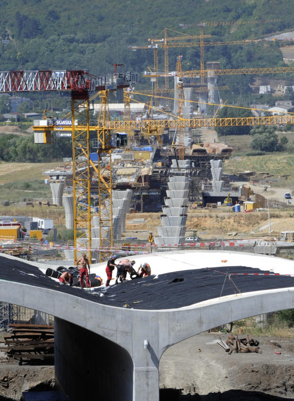 Stavba Radotínského mostu