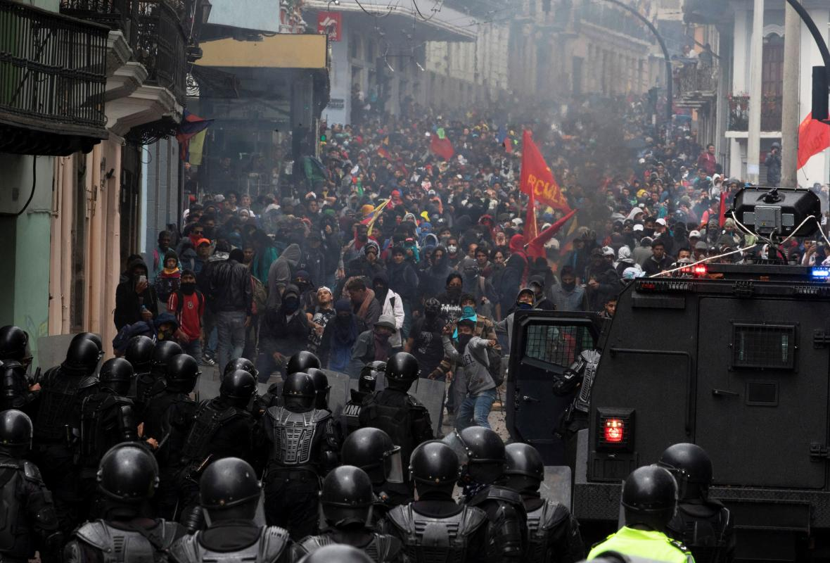 Násilné střety v ekvádorské metropoli