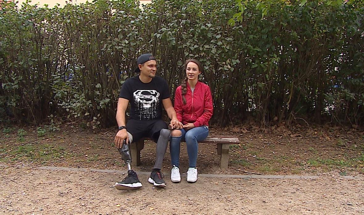 Václav Hečko s přítelkyní