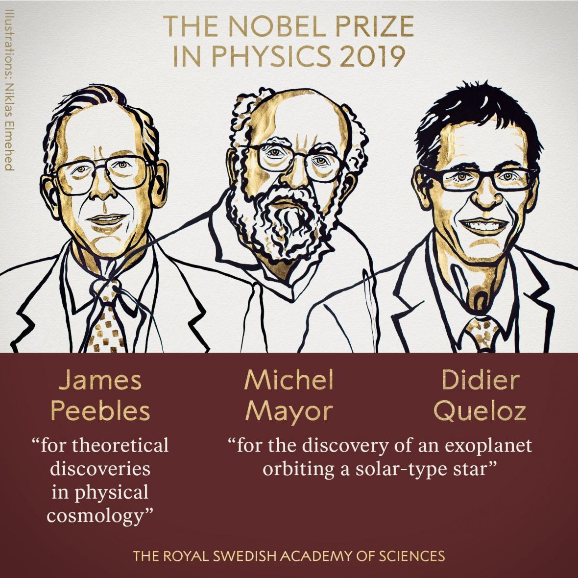 Laureáti Nobelovy ceny za fyziku 2019