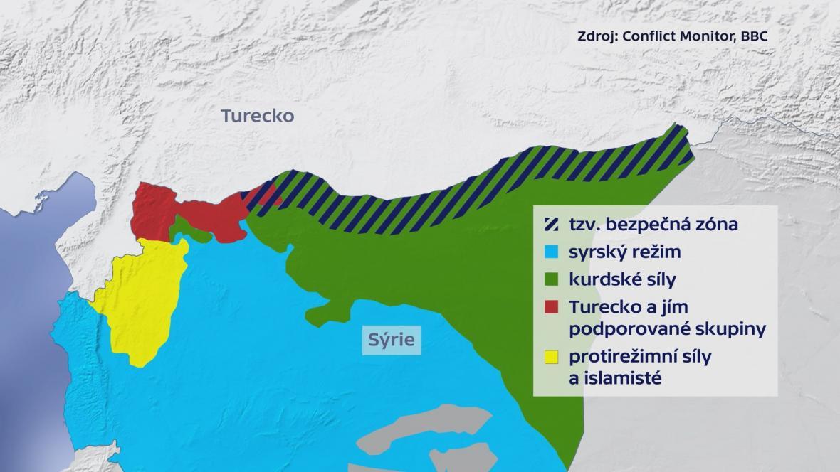 Oblast v Sýrii, kterou chtějí dostat pod kontrolu Turci