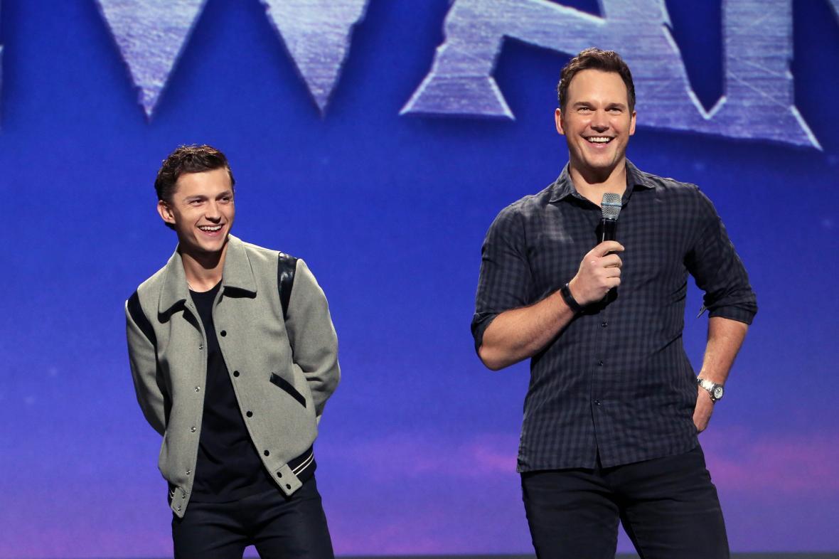 Tom Holland a Chris Pratt