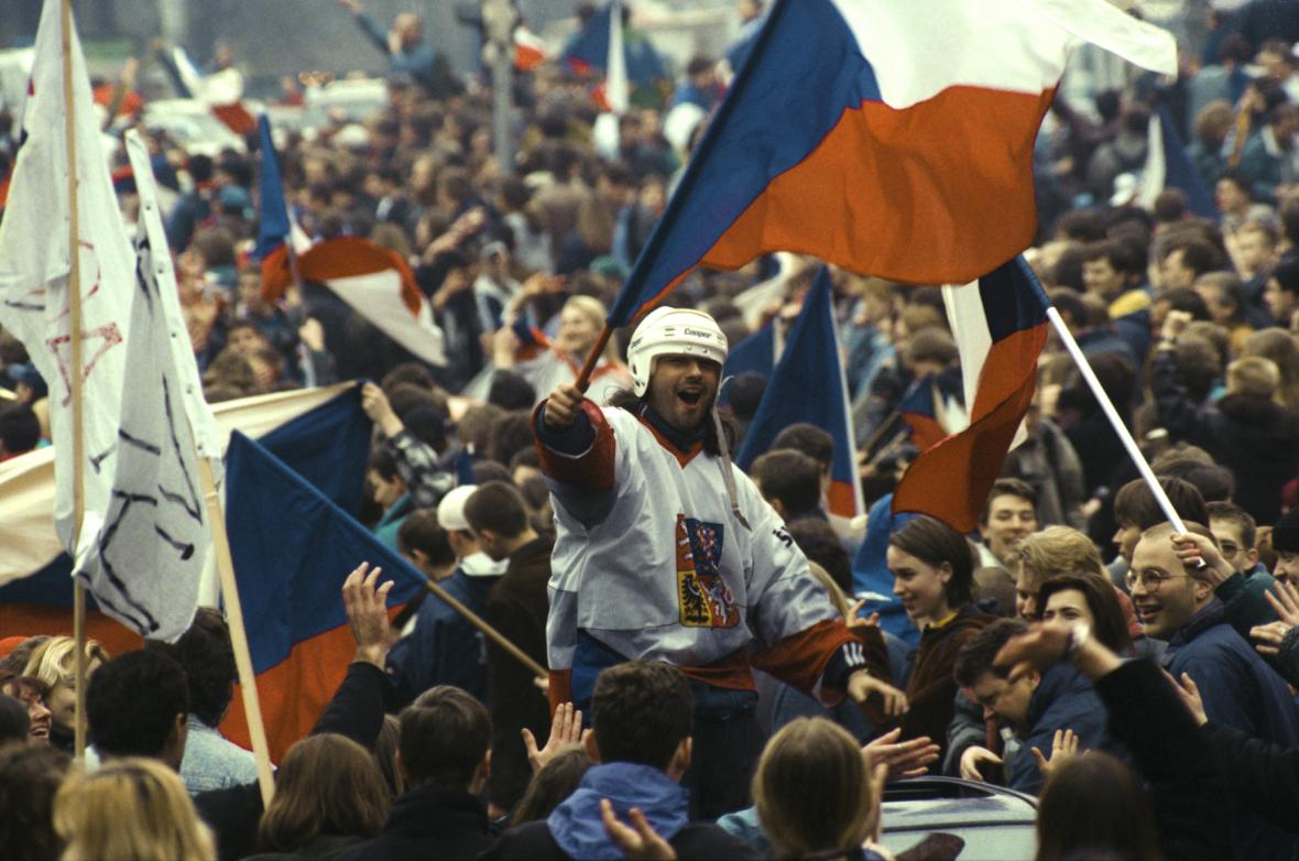 Vítězství českého týmu nad Ruskem v Naganu provázely bouřlivé oslavy