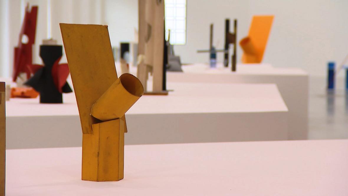 Z výstavy Karel Malich & Utopické projekty