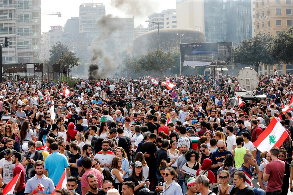 Protest v Bejrútu