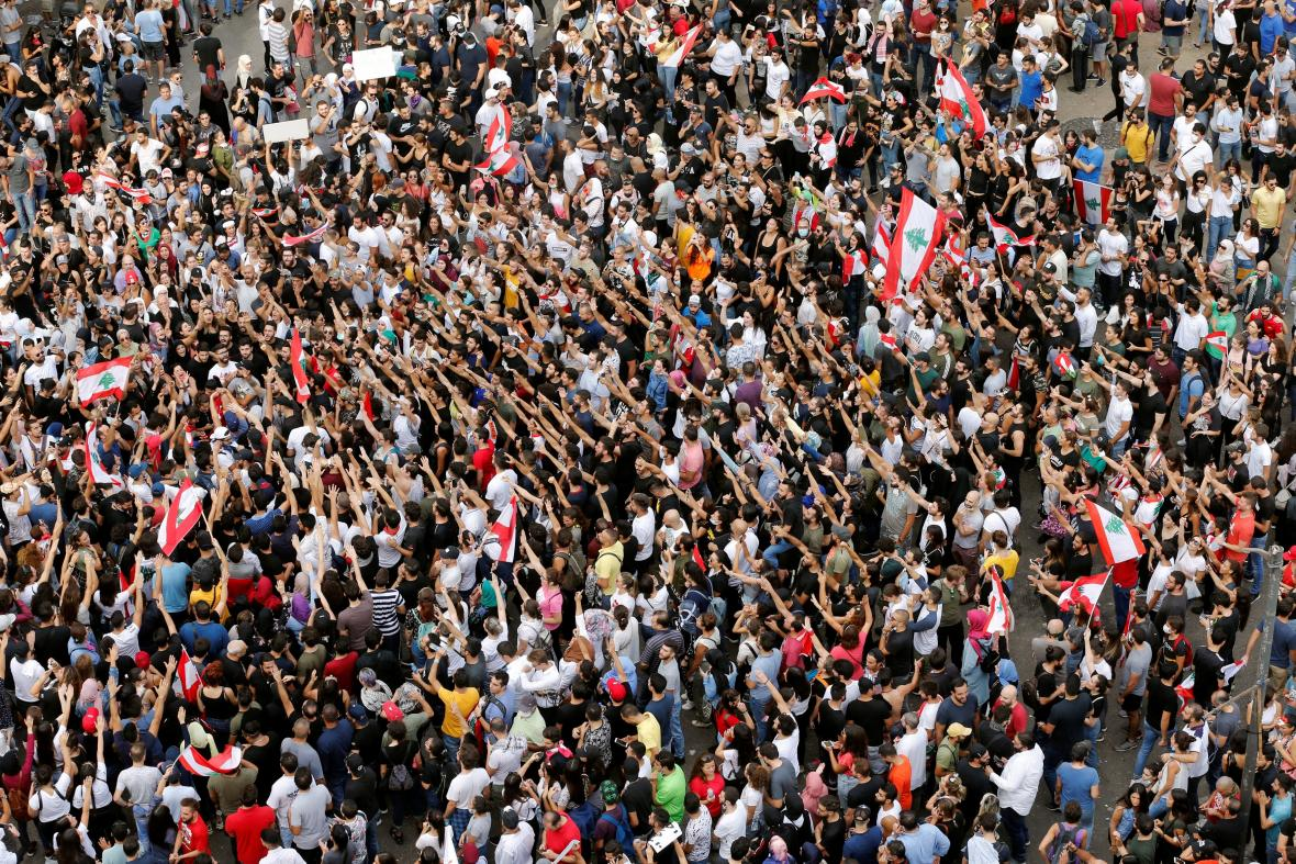 Demonstrace v Bejrútu