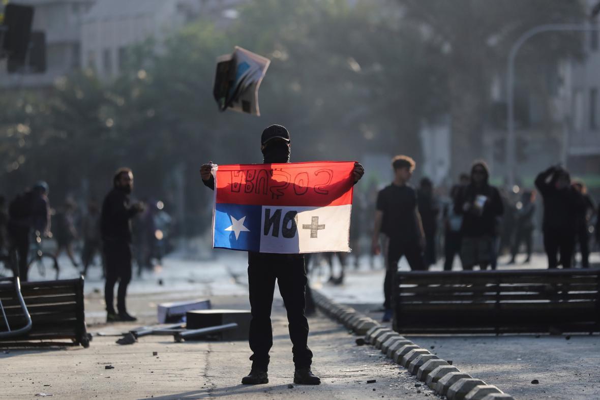 Protest v Santiagu de Chile