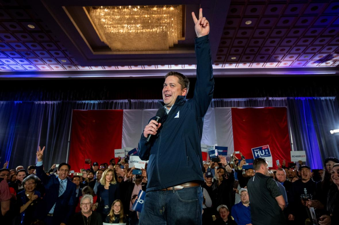 Lídr kanadských konzervativců Andrew Scheer