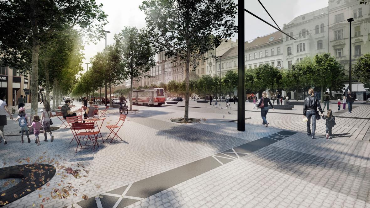 Vizualizace rekonstrukce Václavského náměstí