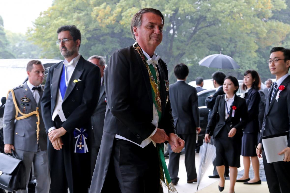 Až z Brazílie přiletěl na ceremonii prezident Jair Bolsonaro