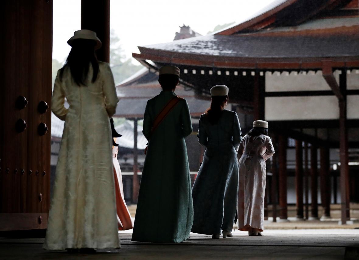 Příchod rodiny japonského panovníka