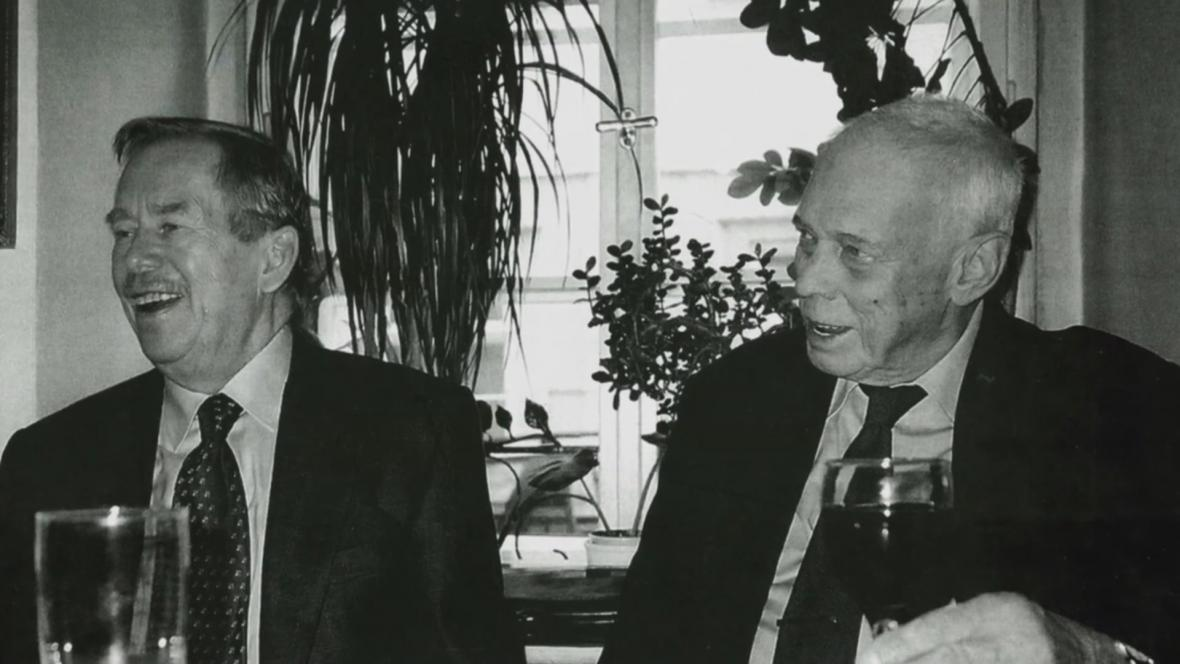 Ivan Medek s Václavem Havlem