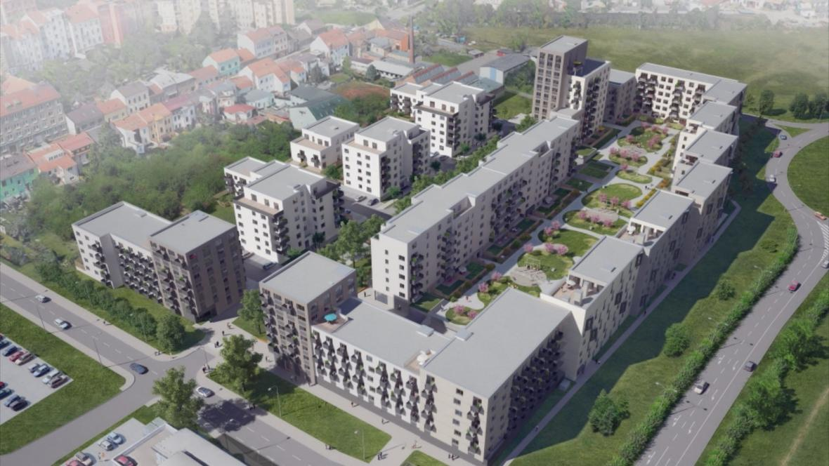Vizualizace bytových domů Ponava