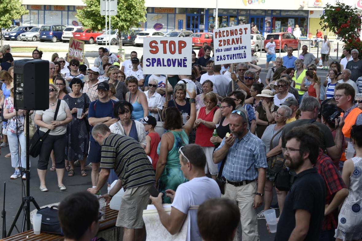 Protest proti spalovně ve Vsetíně