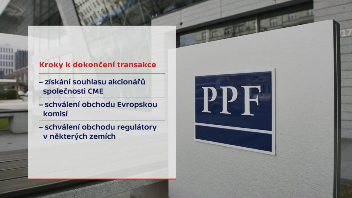Kroky k dokončení nákupu CME skupinou PPF