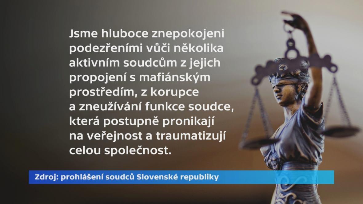 Prohlášení slovenských soudců