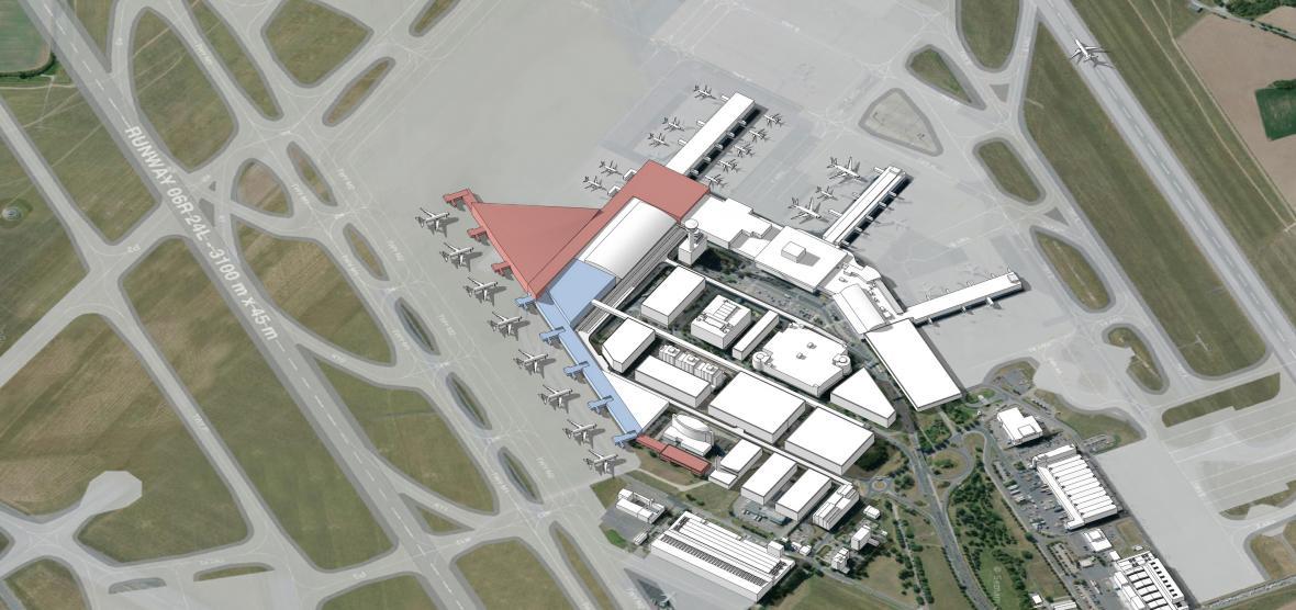 Centrální část terminálu 2