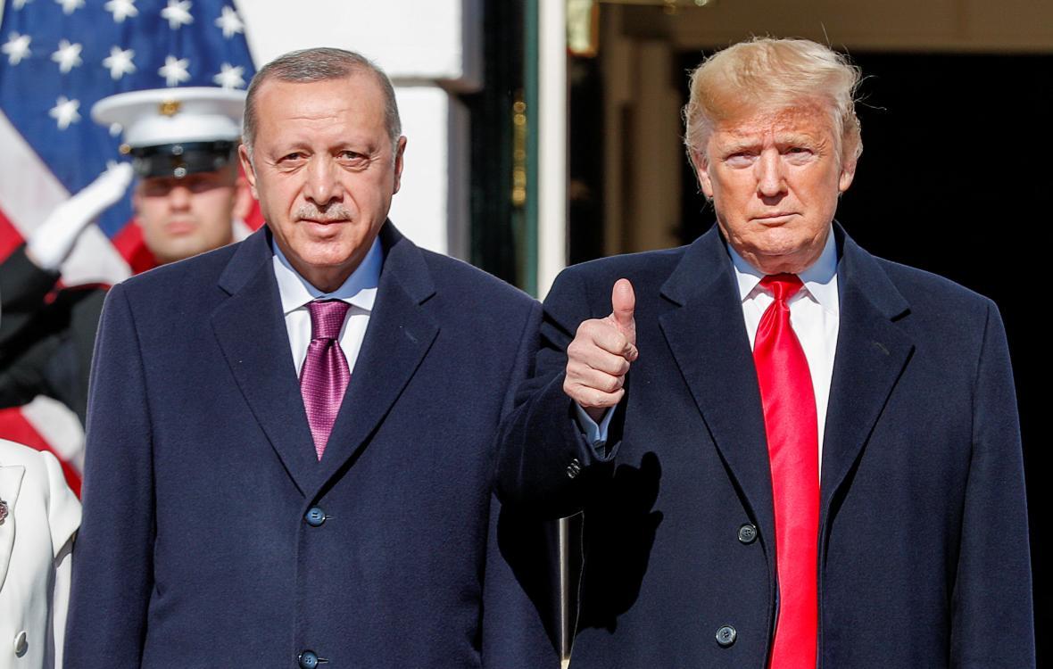 Turecký prezident Recep Tayyip Erdogan na návštěvě USA