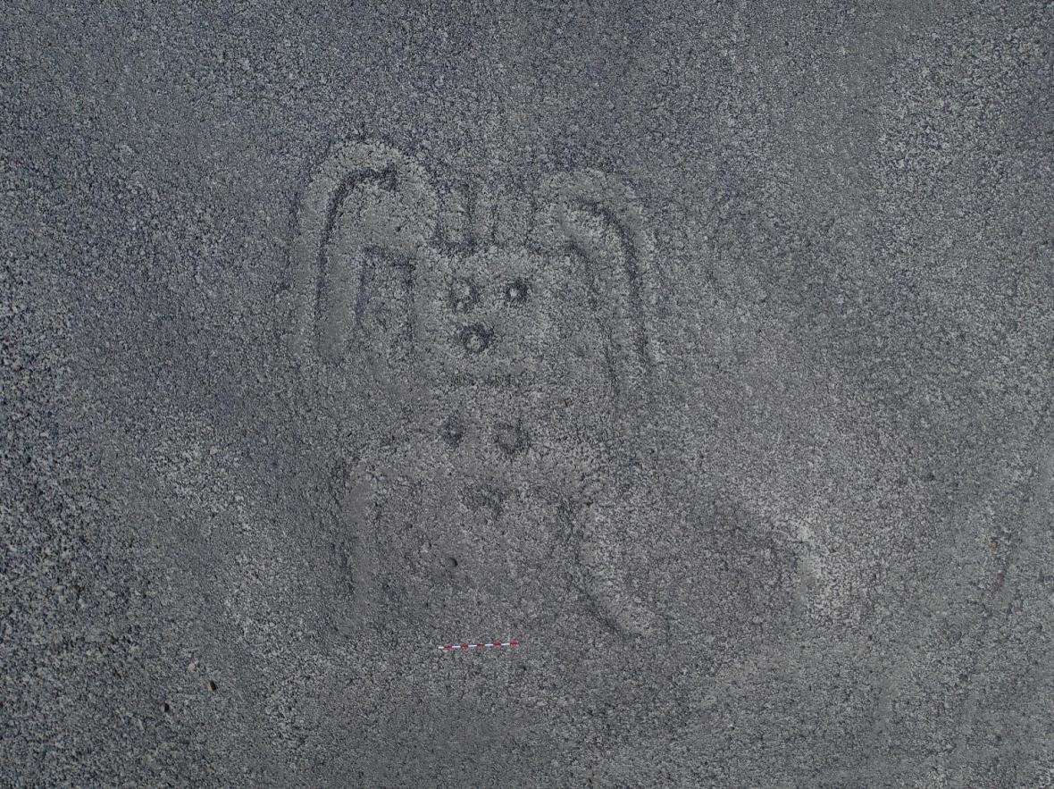 Humanoid na planině Nazca