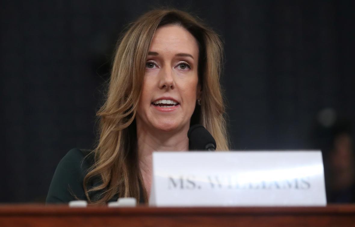 Jennifer Williamsová během svého svědectví před sněmovním výborem