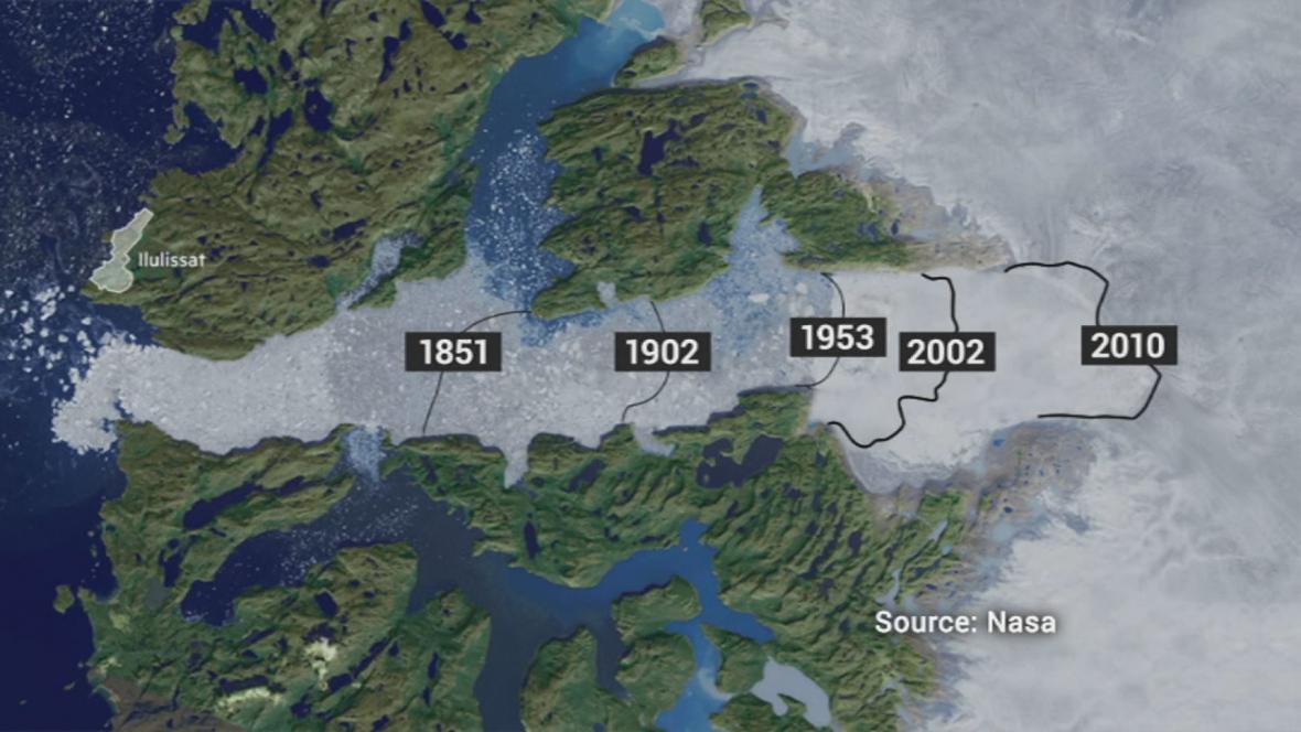 Ubývání ledu v Grónsku
