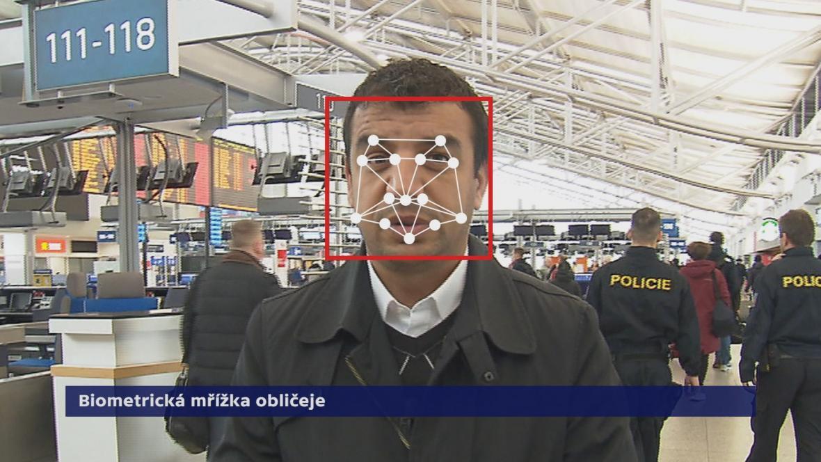 Biometrická mřížka obličeje
