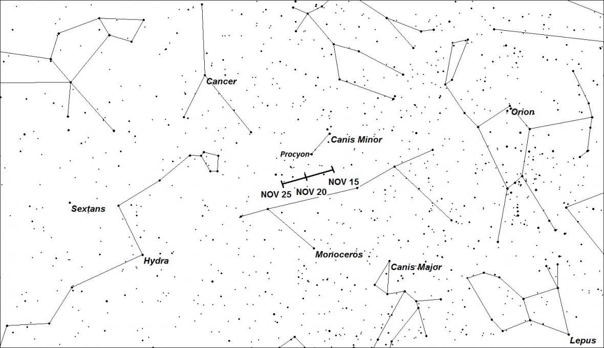 Alfa-Monocerotidy na obloze