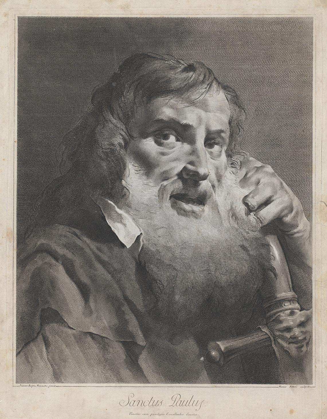 Pitteri Marco Alvise / Svatý Pavel, nedatováno (asi 1742), lept čárový, mědiryt, papír
