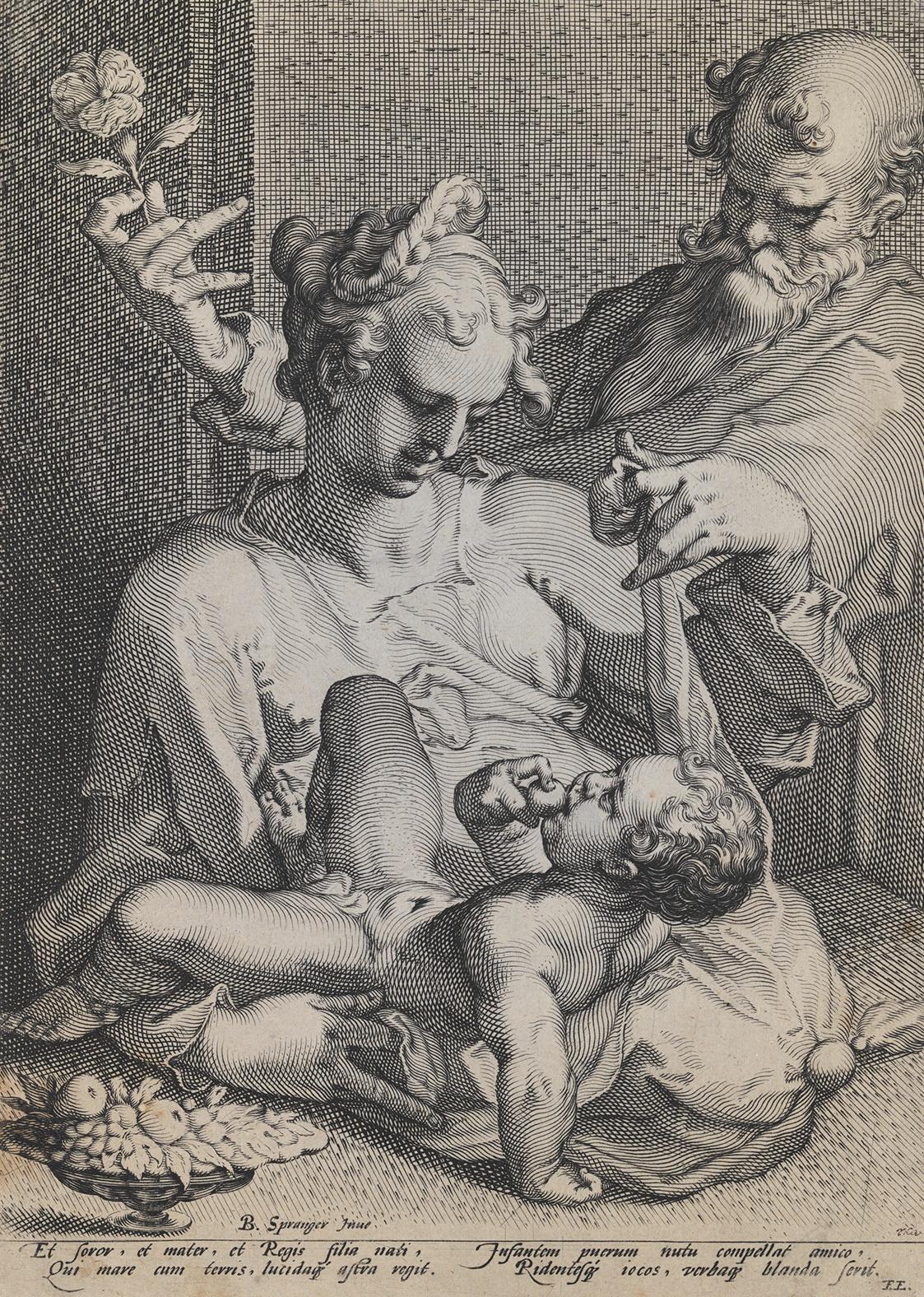Pieter de Jode I. / Svatá rodina, (1589), mědiryt, papír
